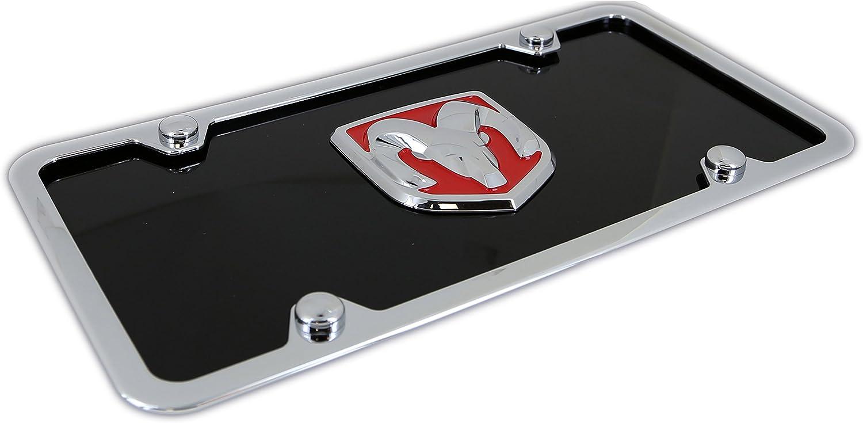 Black INC Red 3D Logo On License Plate Frame for Dodge RAM Au-Tomotive Gold
