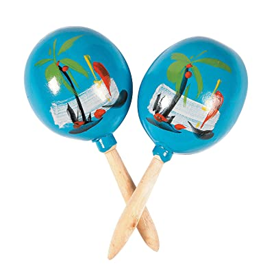 Fun Express - Maracas (2 Pc) for Party - Educational - Music - Music Instruments - Durable - Party - 2 Pieces: Toys & Games