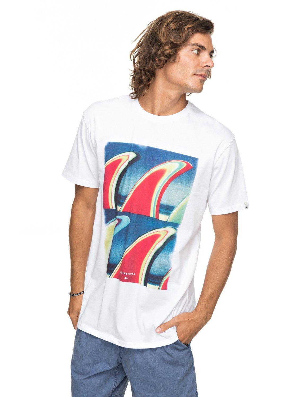 Quiksilver Classic Fin Fanatic Camiseta, Hombre EQYZT04896