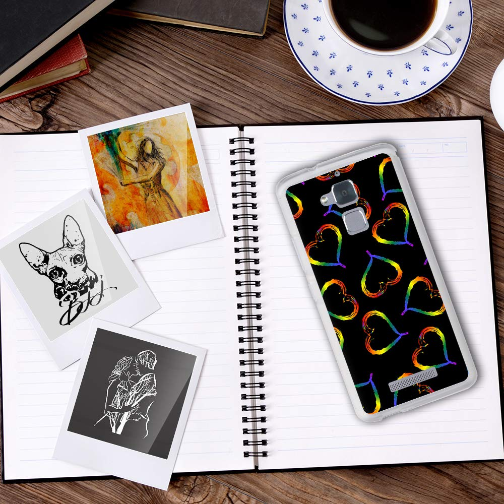 des c/œurs et des arcs-en-Ciel BJJ SHOP /Étui Transparent pour ASUS Zenfone 3 Max ZC520TL Design: Soutien aux LGBT avec des Ballons Coque en Silicone Souple TPU
