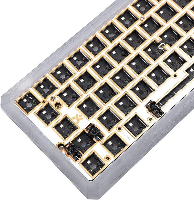 Gk64 Gk64x Cnc Pc Gehäuse Wired Pcb Plate Keyboard Kit Computer Zubehör