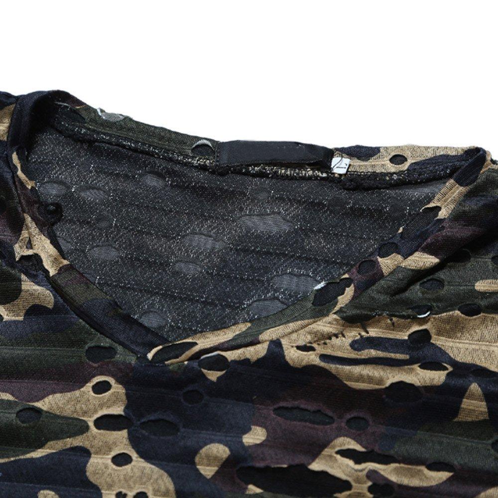 BELLA HXR T-Shirt Uomo Strane Stampa Mimetica personalit/à Magliette Uomo Manica Corta Estive Stampa Magliette Regular Slim Fit Camicetta da Uomo a Maniche Corte Casual per Moda Uomo e Ragazzo