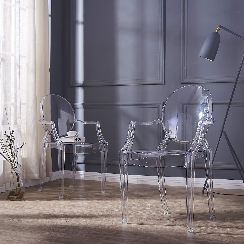 Stuhl-kristallklar-Esstisch-Stühle-Design