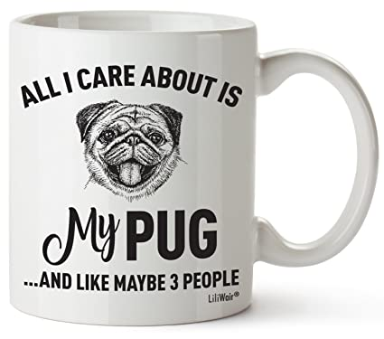 Pug Mom Gifts Mug For Women Men Dad Decor Lover Decorations Stuff I Love Pugs Coffee