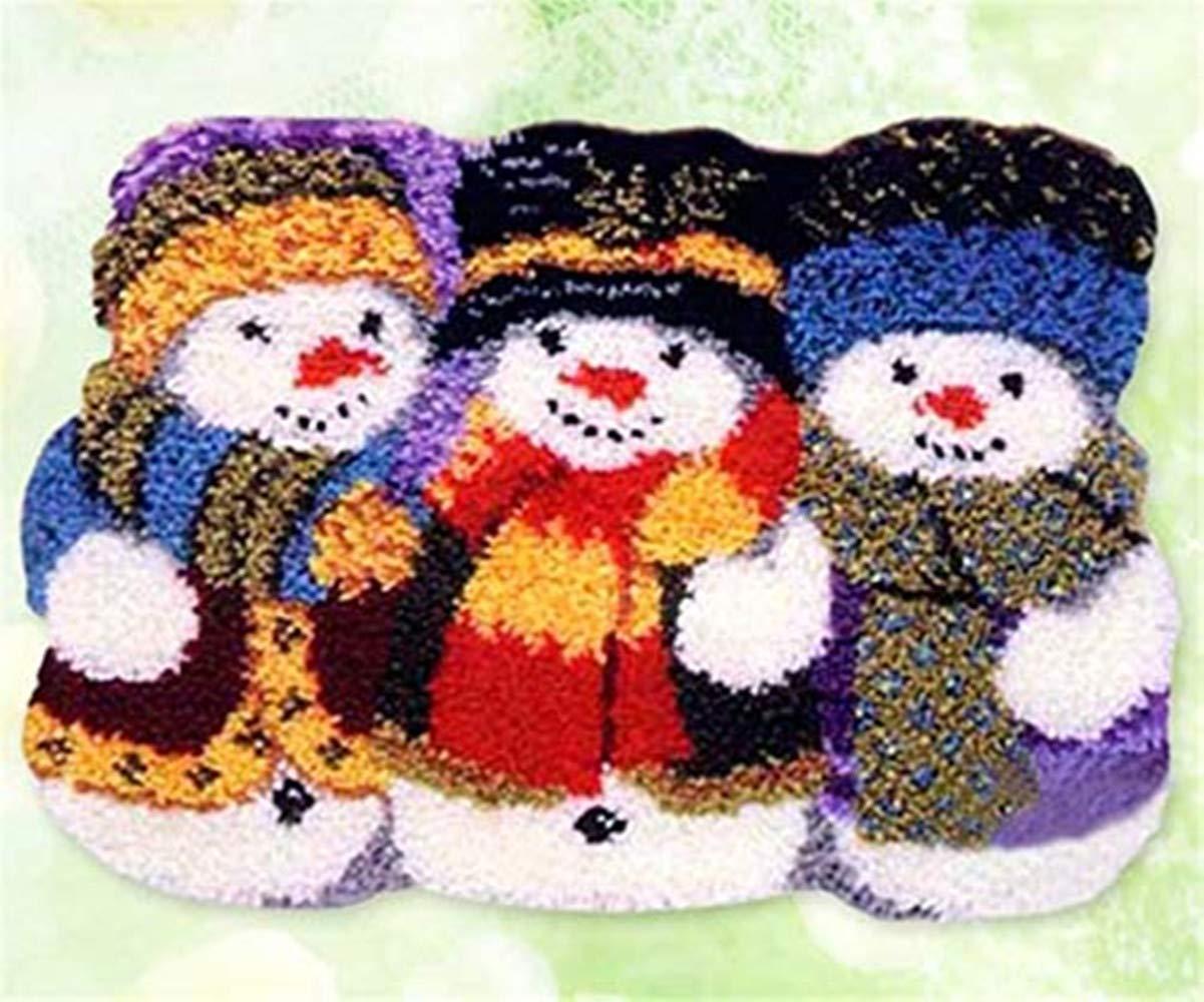 Thunder Bluff Santa Claus//Father Christmas//Snowman Latch Hook Kit Rug Carpet Mat 21 by 21 inch 4