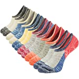 Womens No Show Socks Non Slip Colorful Casual Cotton Low Cut Ankle Socks Invisible Flat Boat Liner