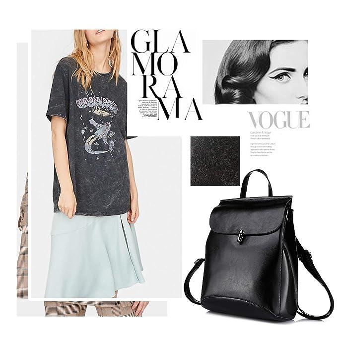 Lederrucksack-Damen-schwarz