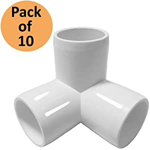 SELLERS360 3Way 1 inch PVC Fitting Elbow - Build Heavy Duty PVC Furniture - PVC Elbow Fittings [Pack of 10]