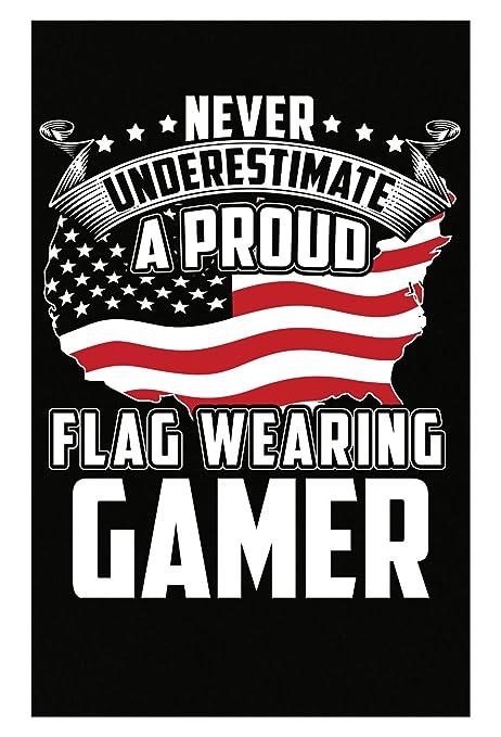 Amazon.com: Nunca Subestimar una bandera uso Gamer – Póster ...