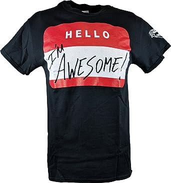 523834b42bf4 Amazon.com: Hybrid Tees The Miz Hello I'm Awesome Be Miz Nametag ...