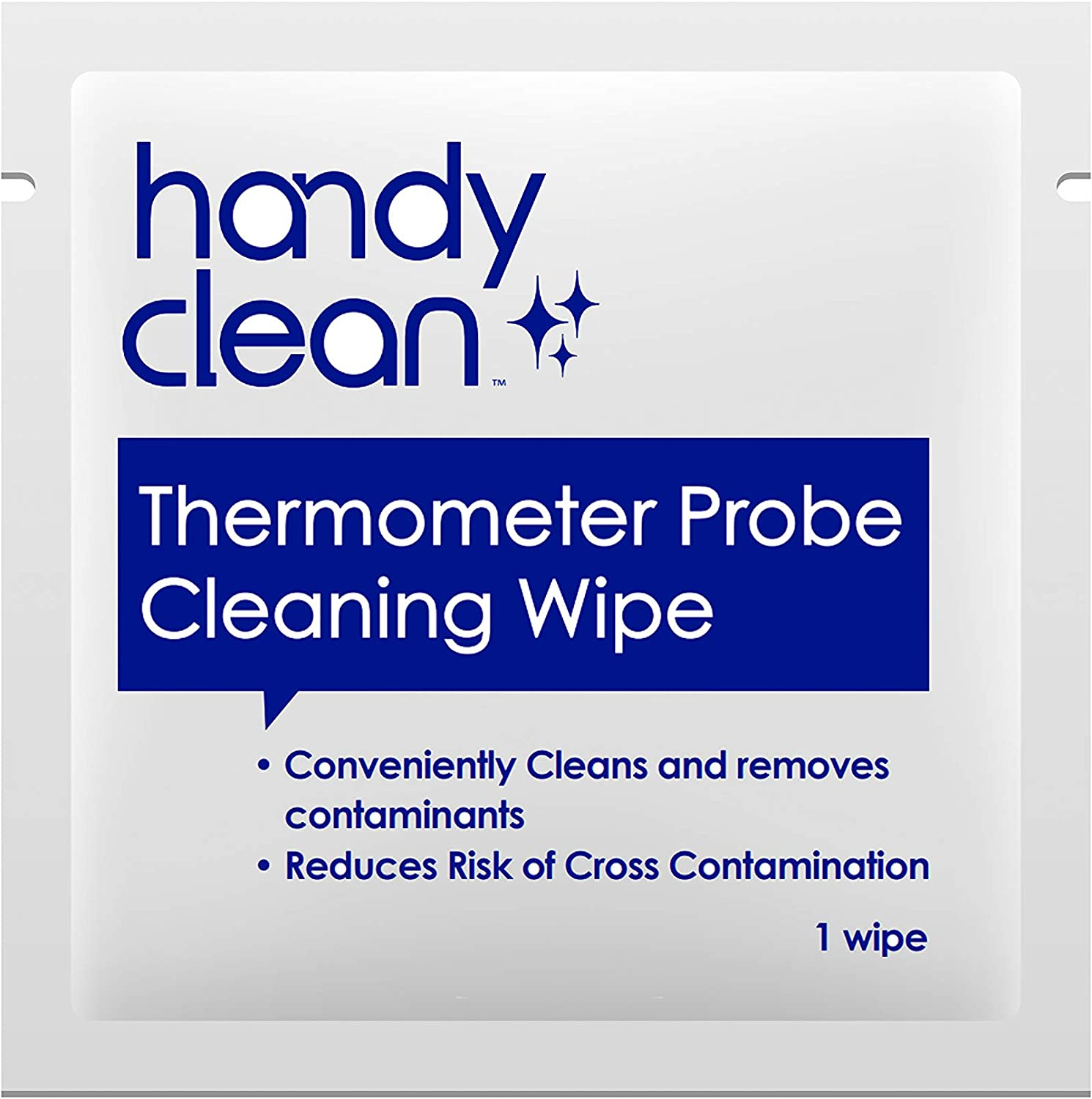 """HandyClean Thermometer And Probe Cleaning Wipes 70% Isopropyl Alcohol Pack of 1000ct Individual Towelette Size 2x1"""" Packets Perfect For Restaurants, Cafeterias, Hospitals, Clinics, Schools"""
