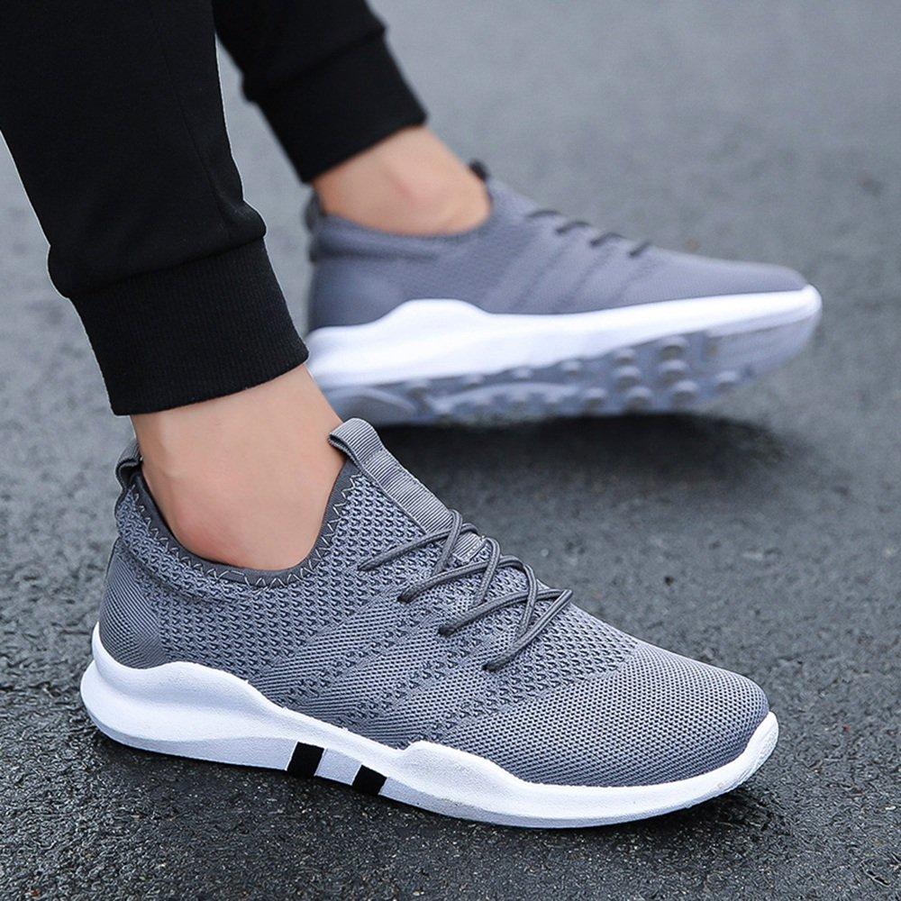 XIAOLIN- Männer Schuhe Synthetische Mikrofaser PU PU Herbst Winter Komfort Sportschuhe Laufschuhe Für Sportliche Casual ( Farbe : Grau , größe : EU43/UK9/CN44 )