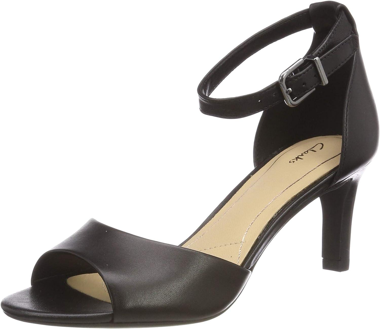 Clarks Laureti Grace, Zapatos con Tacon y Correa de Tobillo para Mujer