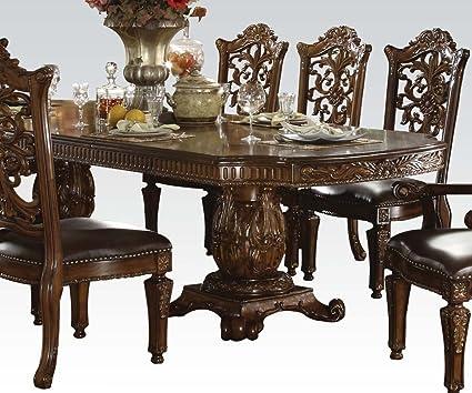 1017fef3d1fa8d Image Unavailable. Image not available for. Color: ACME 60000 Vendome  Double Pedestal Table ...