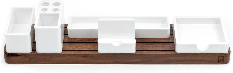 Bamboo Desk Organizer Bamboo Drawer Organizer and Desk Storage Box//Tray Office /& Home Remote Control Storage Box Mobile Phone Wooden Desktop Pen Pencil