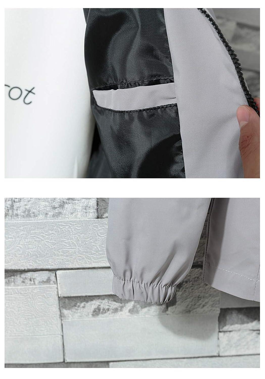 Aeneontrue Mens Jacket with Hood Windbreaker Solid Drawstring Patchwork Long Sleeve Zipper Coat Trendy Jackets