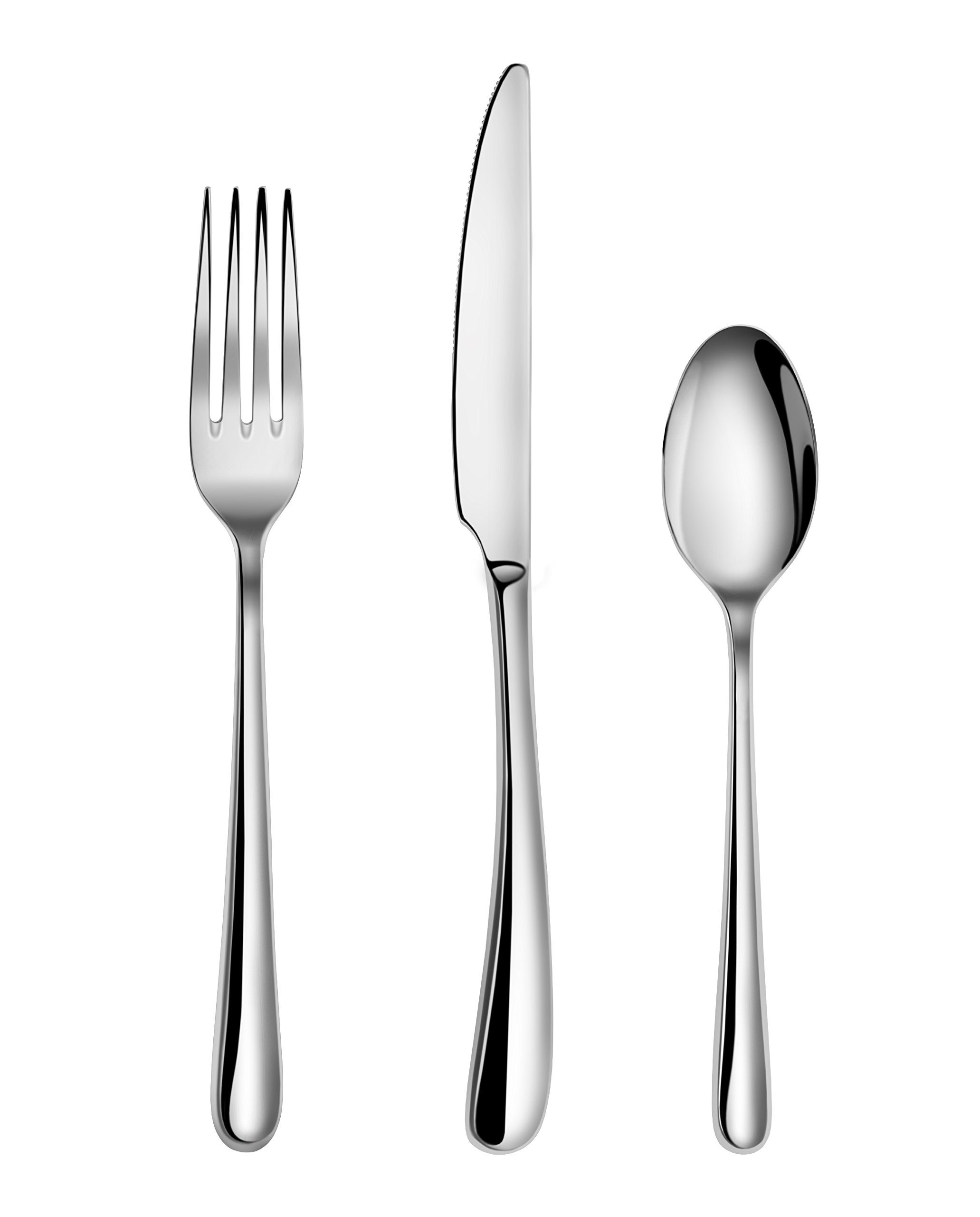Artaste 56518 Rain II Forged 18/10 Stainless Steel Flatware 36-Piece Set, Service for 12