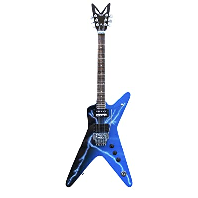 Pantera - Dimebag Darrell from Hell Lightning Bolt Replica Miniature Guitar Model: Toys & Games