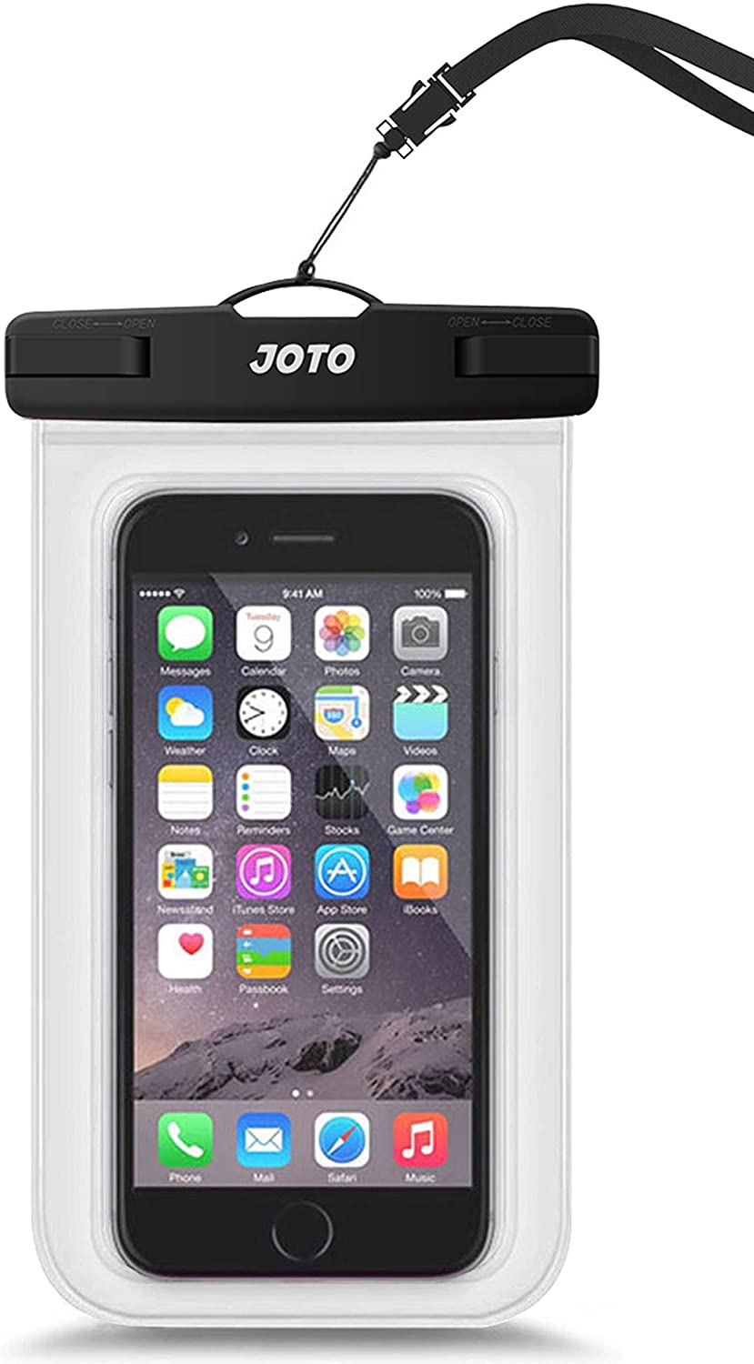 "JOTO Universal Waterproof Pouch Cellphone Dry Bag Case for iPhone 11 Pro Max Xs Max XR X 8 7 6S Plus, Galaxy S20 Ultra S20+ S10 Plus S10e S9 Plus S8/Note 10+ 10 9 8, Pixel 4 XL 3a up to 6.9"" -Clear"