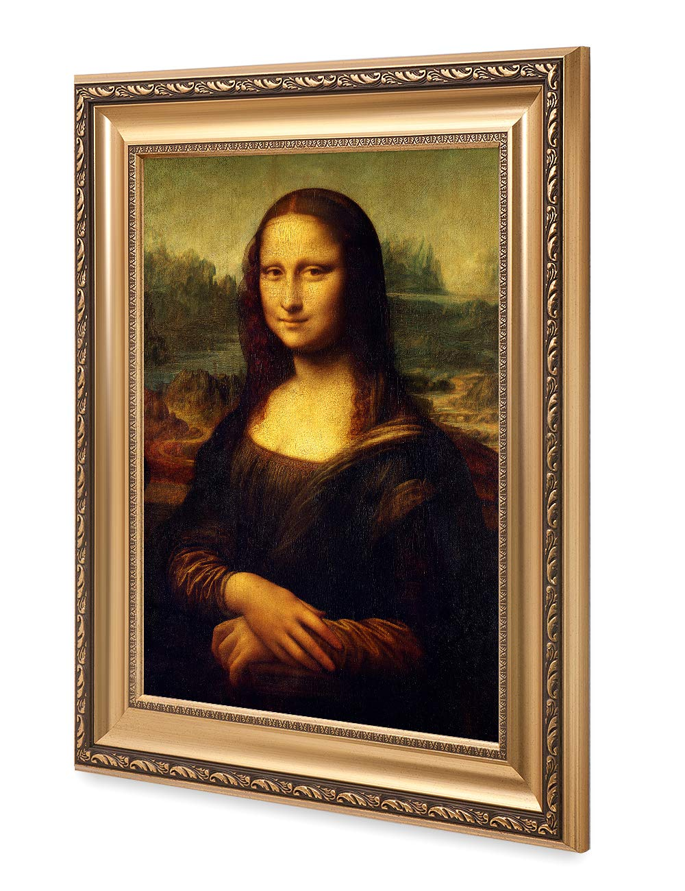 DECORARTS – Mona Lisa by Leonardo Davinci. The World Classic Art Reproductions. Giclee Print with Matching Art Frame, 30×20 Framed Size 36×26