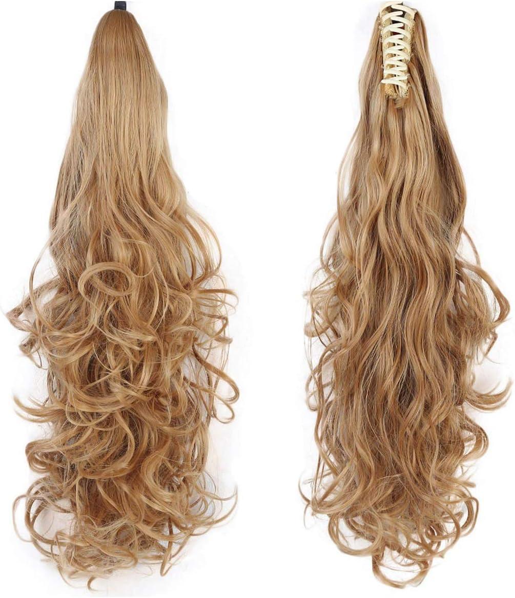 Pinza de cola de caballo sintética para mujer en extensiones de cabello Peinados de pelo rizado con cola de caballo estilo peinado 103 22 pulgadas