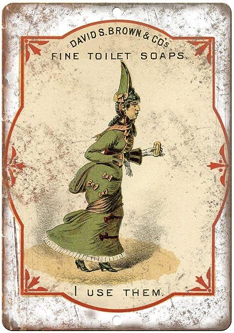 Shunry David Brown Fine Toilet Soaps Placa Cartel Vintage ...