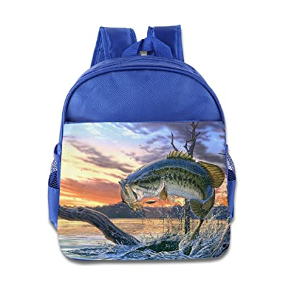 70%OFF Bass Fish Jumping Children Toddler Backpack Preschool Carry Bag Boys Girls RoyalBlue