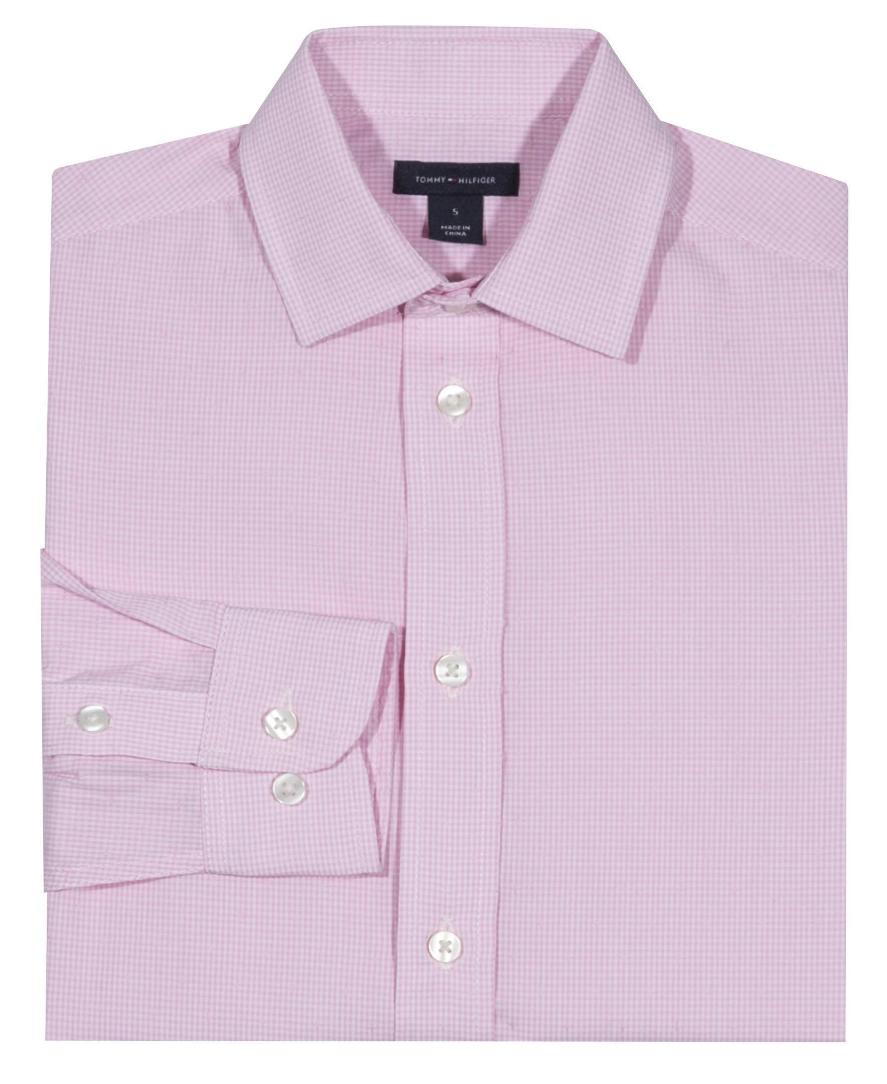 Tommy Hilfiger Boys' Cross Gingham Shirt, Light Pink, 16 by Tommy Hilfiger (Image #3)