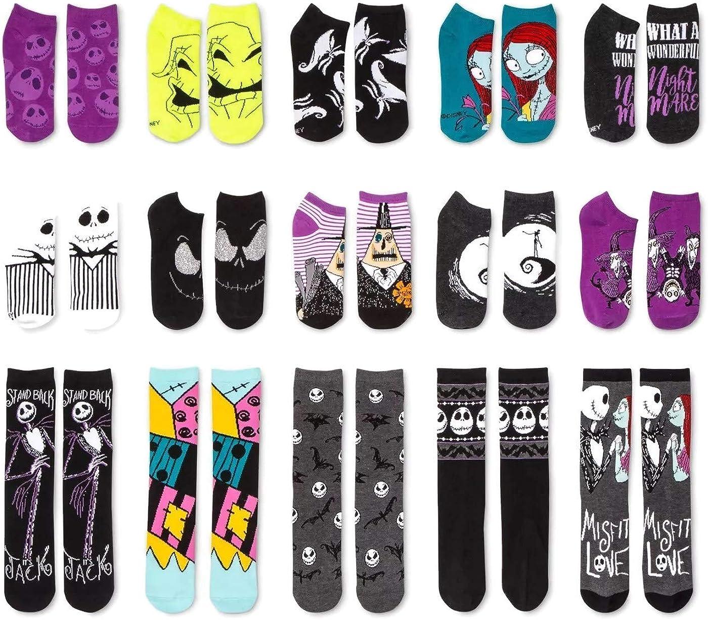 Teen//Adult The Nightmare Before Christmas Womens Multi Pack Socks