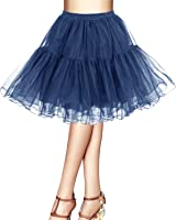 Bridesmay Women's 50s Vintage Petticoat Net Underskirt Retro Short Tutu