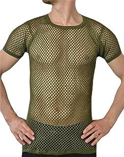 c674d2e097d820 Crystal Hombre 100% Algodón Camiseta de Malla Ajustada Tallas S-2XL  Disponibles