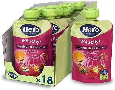 Hero Baby Mi Jelly - Bolsita de Gelatina de Frutas del Bosque, Sin Azúcares Añadidos, para Bebés a Partir de los 36 Meses - Pack de 18 x 100 g: Amazon.es: Alimentación y bebidas
