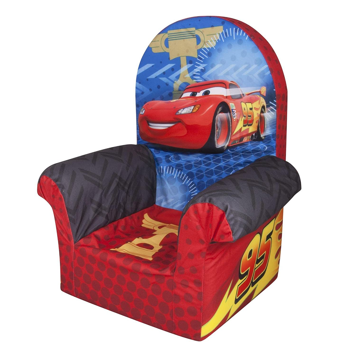 disney cars bedroom furniture. Amazon com  Marshmallow Furniture Disney s Cars 2 High Back Chair Toys Games