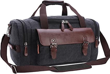 Aidonger Men/'s Vintage Canvas Duffle Bag Gym Sports Travel Tote Luggage Bag