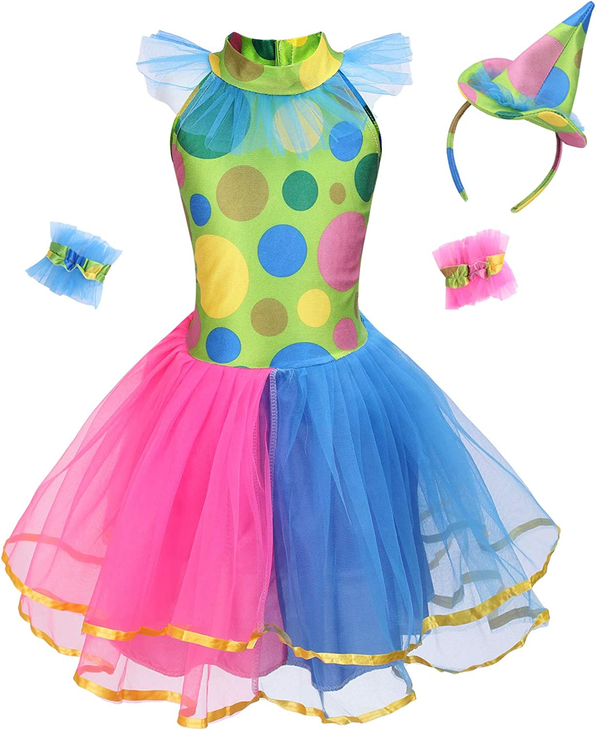 Funny Role Play for Mardi Gras Dress Up yolsun Clown Costume