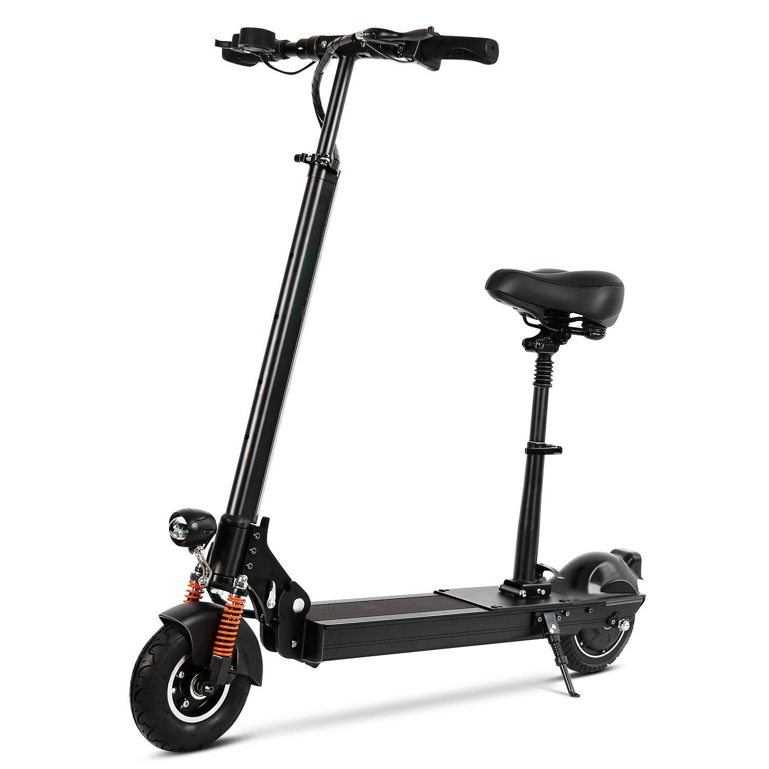 Bifast Portable Seated Electric Bike Adult Motorized Scooter with Rechargeable Battery Black