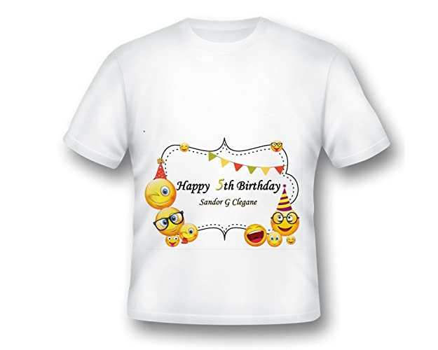 Amazon Personalized Emoji Shirt Birthday Party Custom Printed