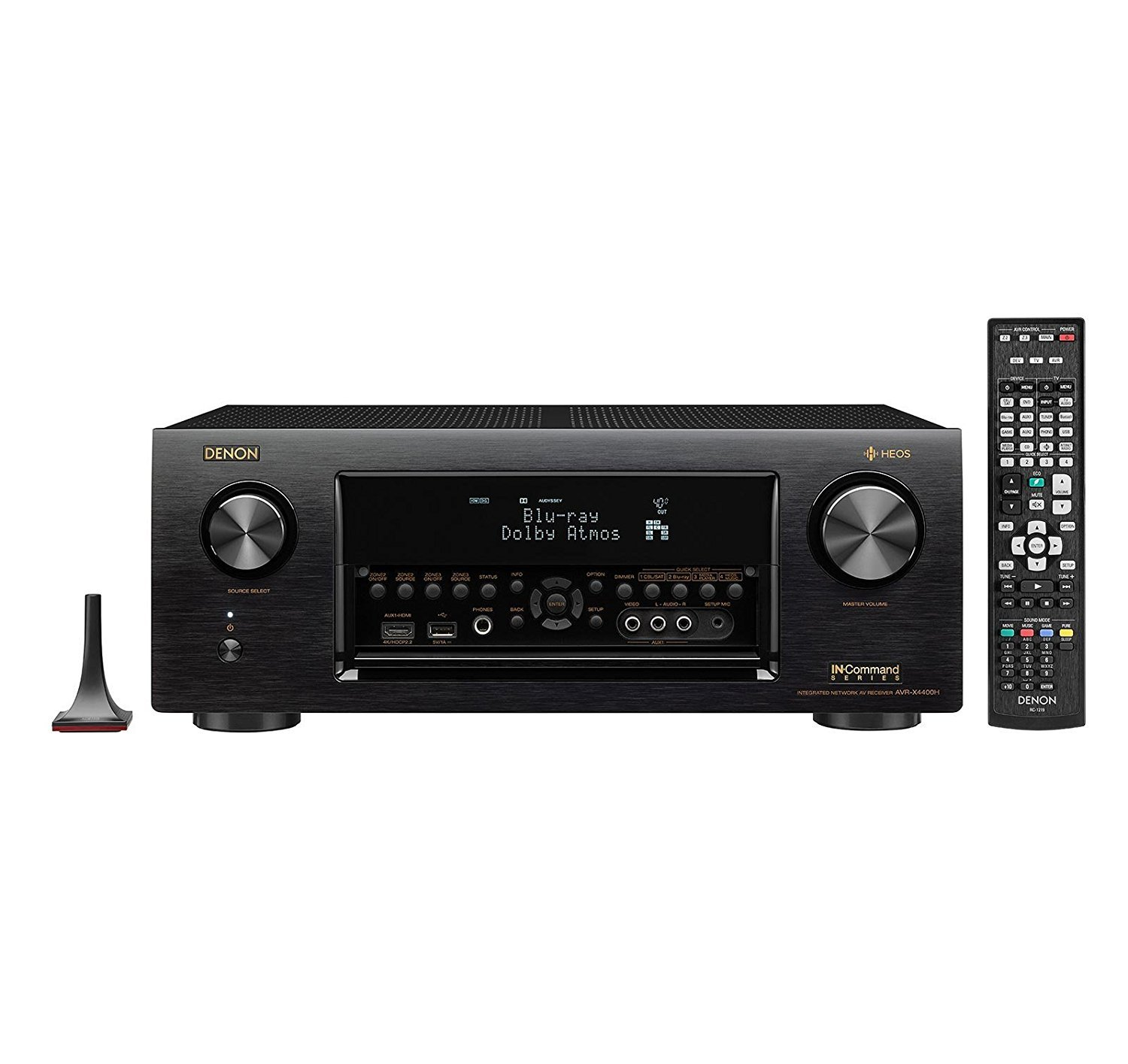 Denon AVRX4400H 9.2 Channel Full 4K Ultra HD Network AV Receiver with HEOS black (Certified Refurbished) by Denon