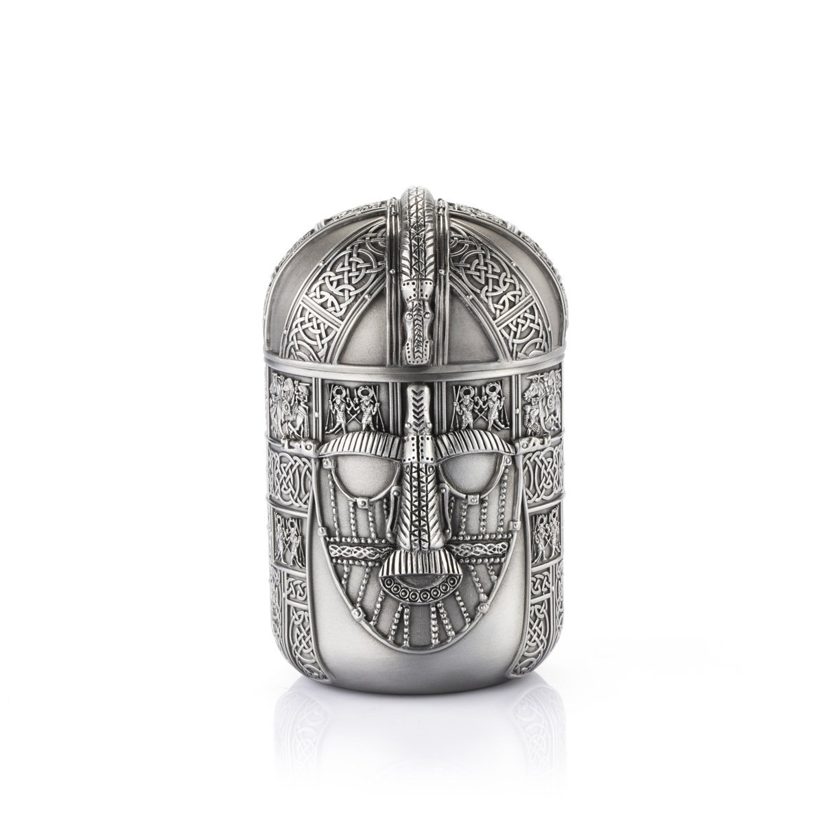 Royal Selangor Hand Finished The British Museum Collection Pewter Warrior Tea Caddy