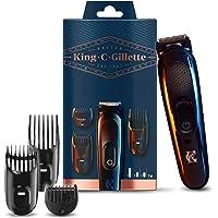King C. Gillette Recortadora de Barba y Cortapelos Inalámbrica Hombre con Cuchillas de Larga Duración + 3 Peines…