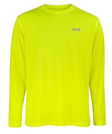 Favourite Laufen-Jogging-Shirt mit langen Ärmeln, Oberteil für Herren S Gelb