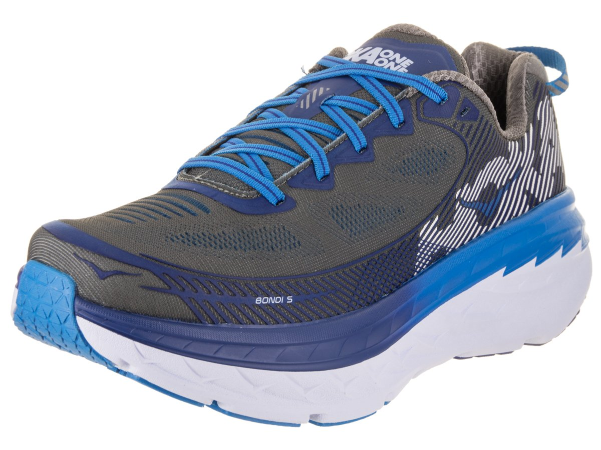 HOKA ONE ONE Hoka Bondi 5 Running Shoes - SS17 B079P9C34M 13 Wide 2E|Charcoal Gray/True Blue