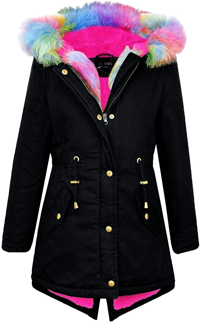 Blue Seven Girls M/ädchen Mantel Mit Fell-Kapuze Coat