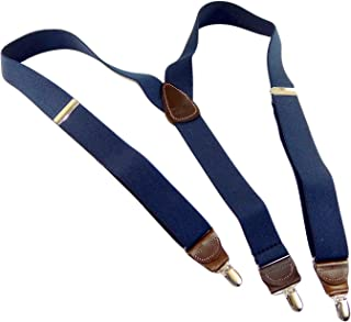 product image for Holdup Brand Dark Ocean Blue Y-back Casual Series Suspender with patented Silver-tone center pin Clips