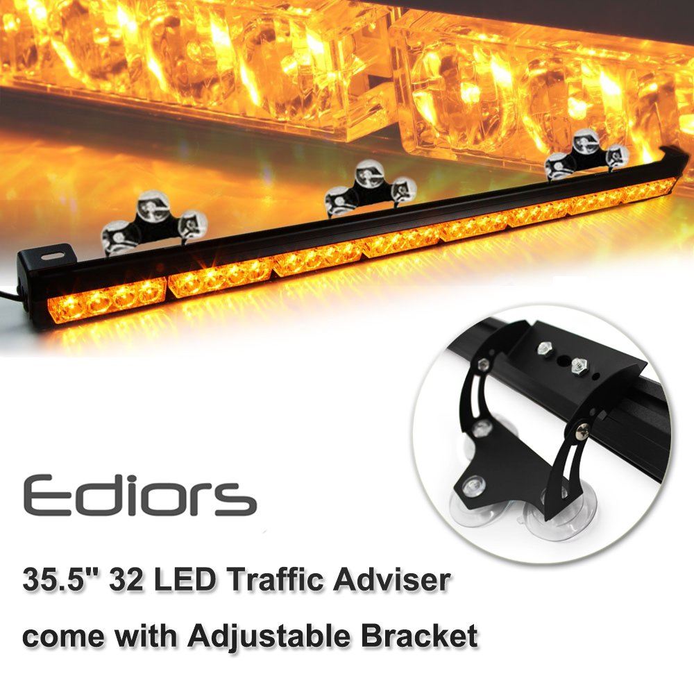 "Amazon.com: Ediors Auto Truck 35.5"" LED Traffic Adviser / Advising  Emergency Vehicle Directional Warning Strobe Light Bar - Amber: Automotive"