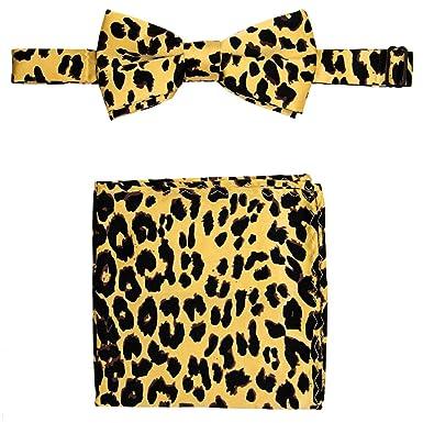 256014a3f3e4 Leopard Bow Tie and Handkerchief Set: Amazon.co.uk: Clothing