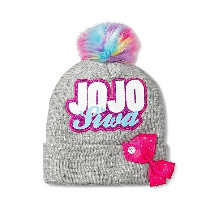 Amazon.com  Girls JoJo Siwa Rainbow Pom Pom Beanie Hat  Clothing 7fe38200fcd
