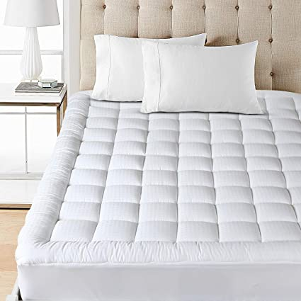 down mattress topper queen Amazon.com: Balichun Mattress Pad Cover Queen Size Pillowtop 300TC  down mattress topper queen