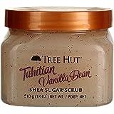 Tree Hut Sugar Body Scrub 18 Ounce Tahitian Vanilla Bean (Pack of 2)