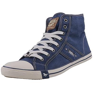 MUSTANG 4058 504 841, Hohe Sneaker, Blau (Jeansblau 841), 47